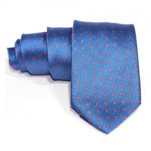 corbata azul electrico lunars rojos