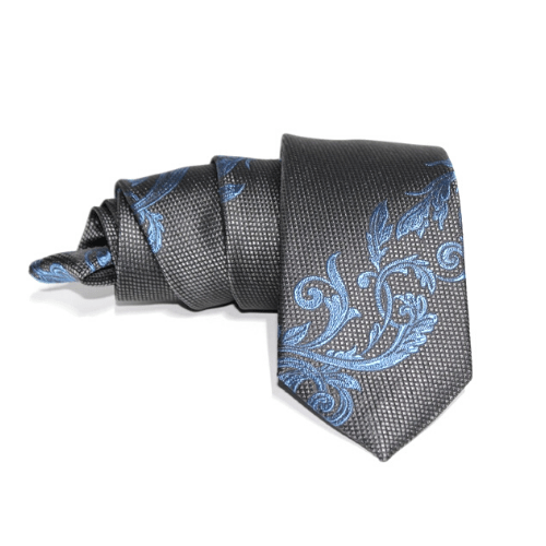 corbata gris brocado azul eduardo bosch