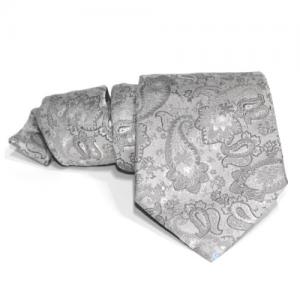 corbata gris cachemire