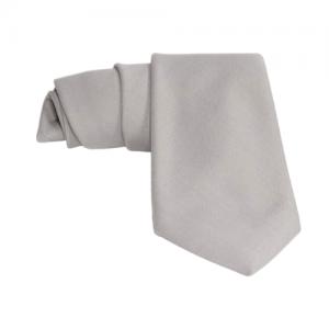 corbata gris crepe