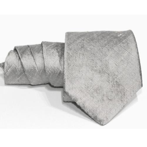 corbata gris de seda