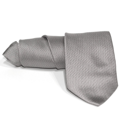corbata gris lisa