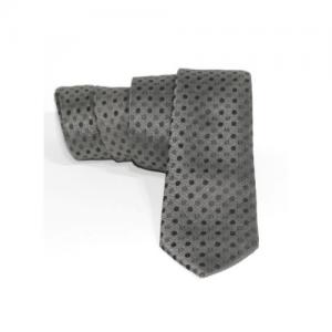 corbata gris lunares negros estrecha