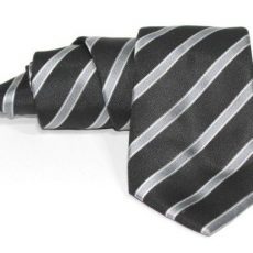 Corbata negra rayas