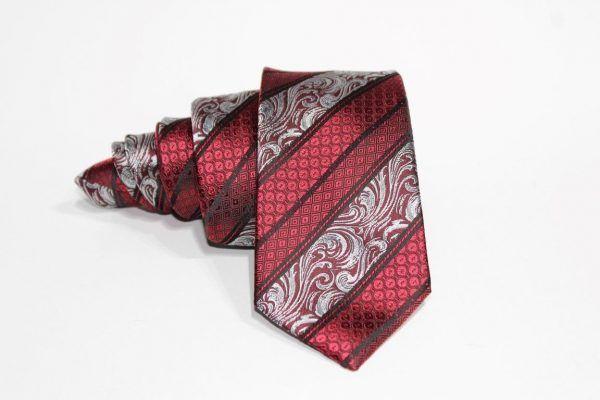 corbata roja brocado