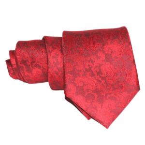 corbata roja estampado cachemire