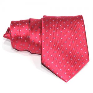 corbata roja lunares