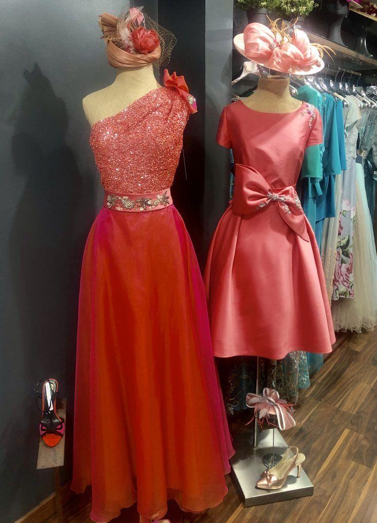 vestido rojo largo y corto