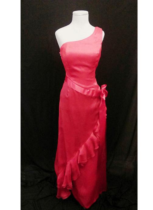 Vestido rojo de organza ref 18