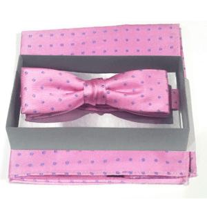 conjunto pajarita y panuelo rosa de lunares 1