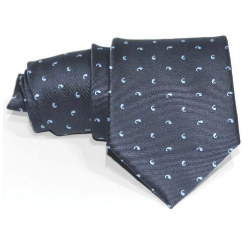 corbata azul marino piquitas