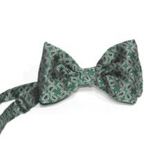 pajarita verde oscuro brocado