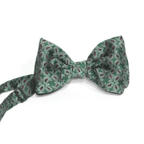 pajarita verde oscuro brocado 1