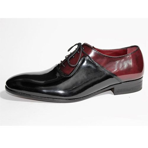 zapato burdeos y negro
