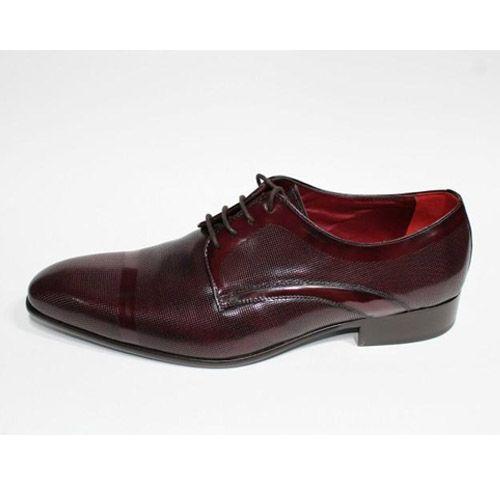 zapatos burdeos piel
