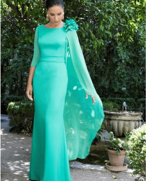 vestidos de fiesta verde ana torres