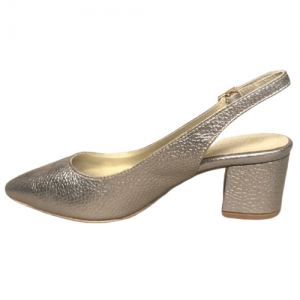 zapato de fiesta bronce tacon bajo