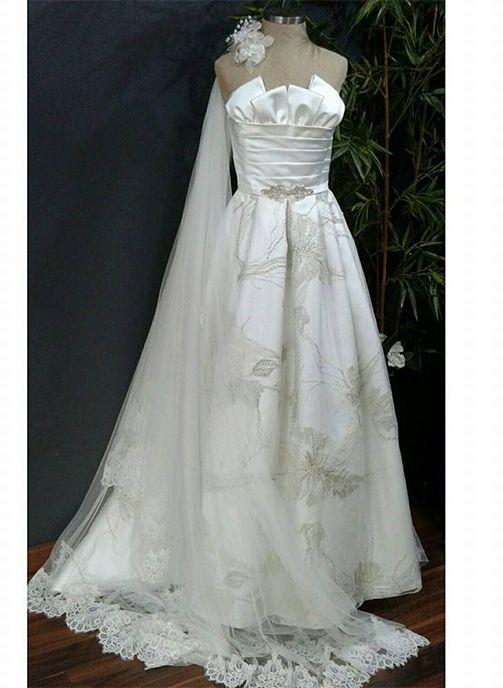 vestido novia brocado