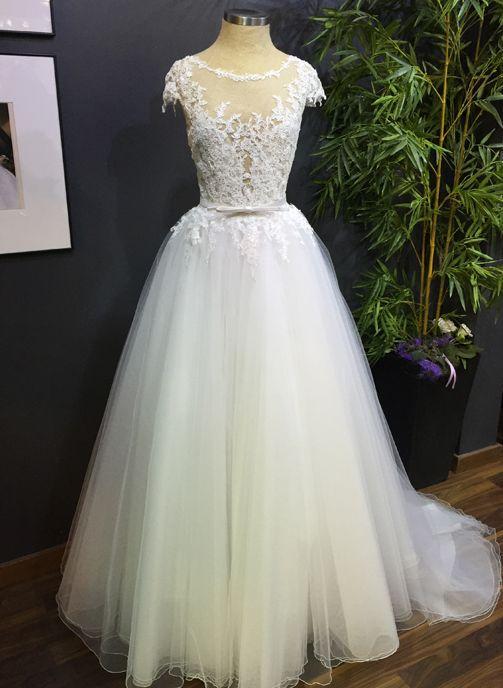 vestido novia tul cuerpo pedreria