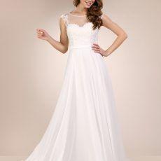 vestido de novia gasa 10016