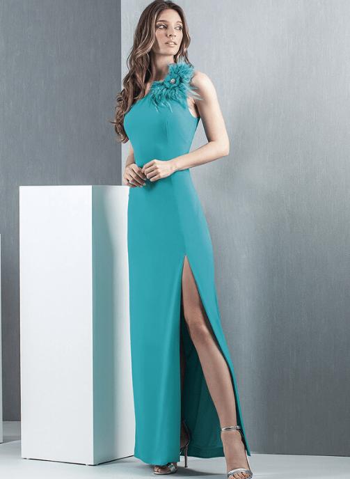 vestido fiesta turquesa pilukafashion