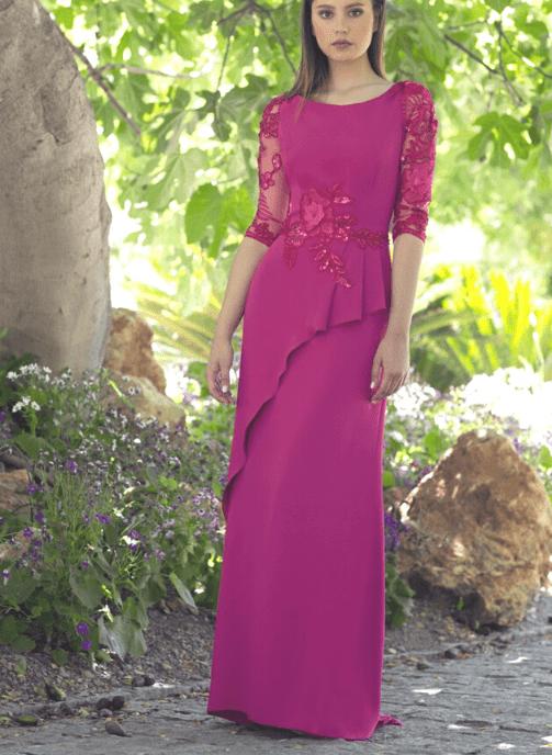 vestido fiesta buganvilla crepe