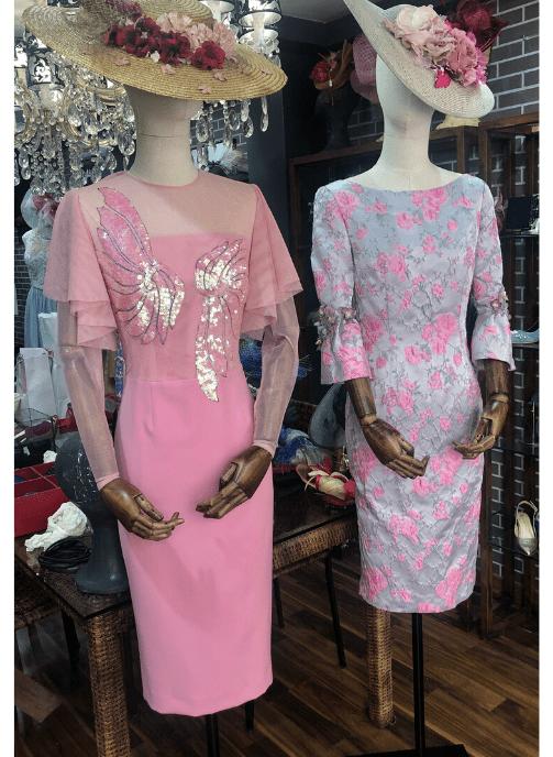 vestidos de fiesta rosas para bodas pilukafashion