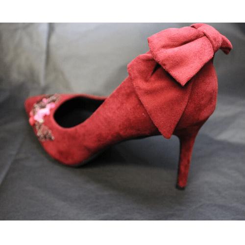 lazo zapato granate
