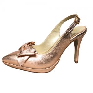 zapato laminado rosa piel