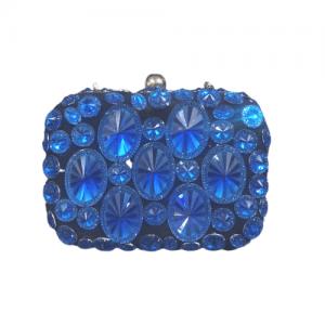 bolso azul electrico piedras cristal