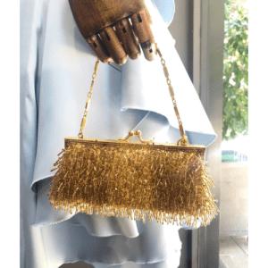bolso dorado fiesta