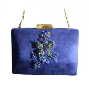 bolso fiesta azul electrico 1