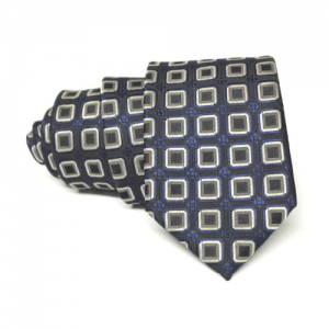 corbata azul marino y gris firma eduardo bosch