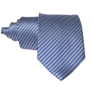 corbata azul rayas