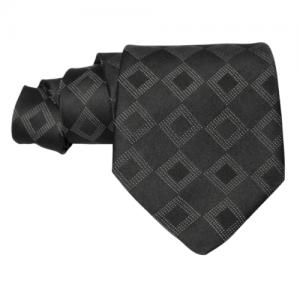 corbata negra con dibujo