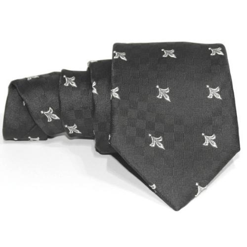 corbata negra flor de liz