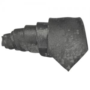 corbata negra brocado