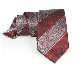 corbata roja brocada
