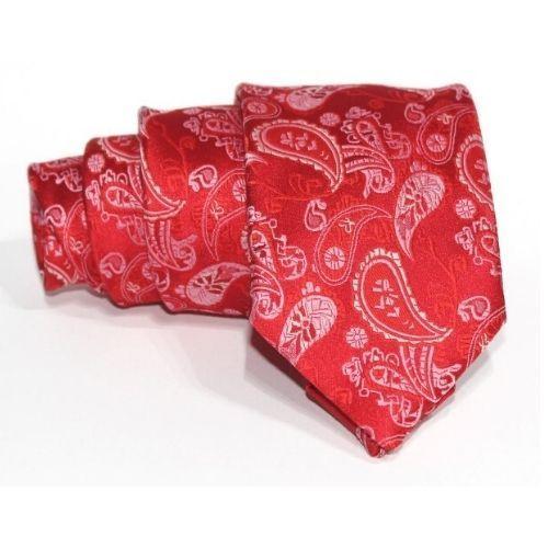 corbata roja cachemire
