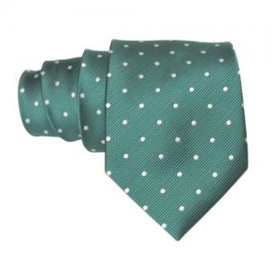 corbata verde lunares blancos