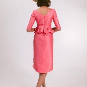 vestido de fiesta corto color coral modelo tayler pilukafashion 2