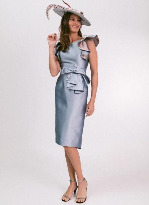 vestido fiesta azul plomo tissort balenciaga modelo londres 1