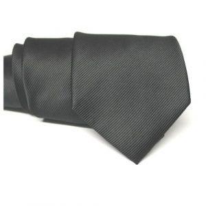 corbata negra ceremonia lisa