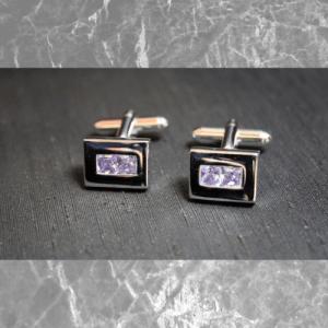 gemelos piedra cristal malva
