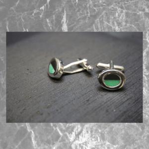 gemelos piedra verde
