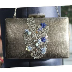 bolso fiesta plata y azul 2