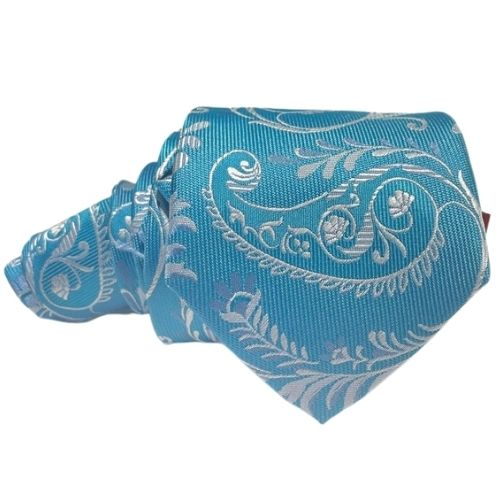 corbata azul turquesa