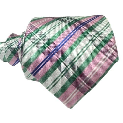 corbata rosa cuadros