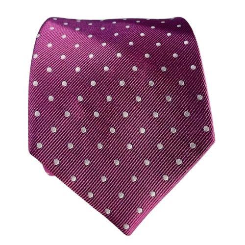 corbatas morado lunares