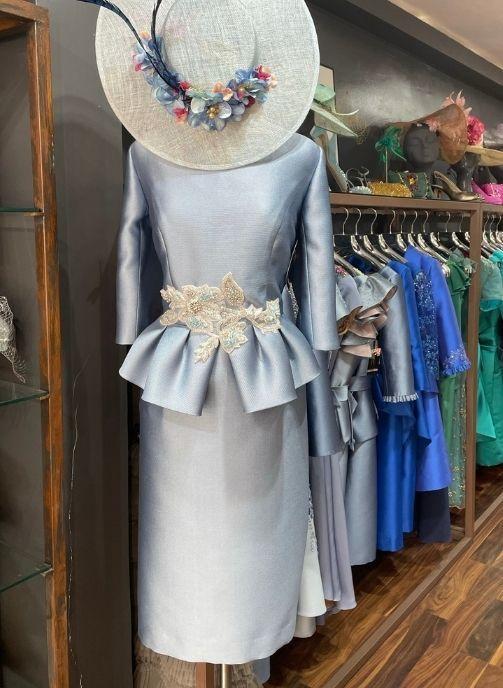 vestido fiesta azul cielo coleccion pilukafashion